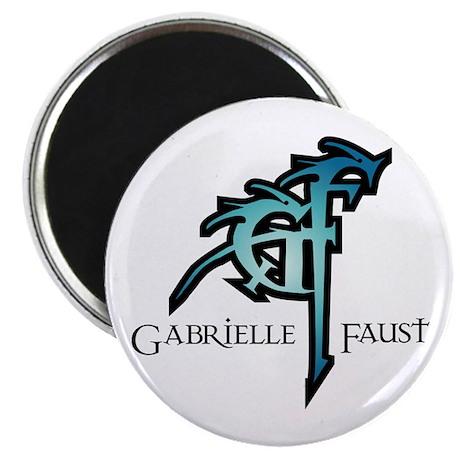 "Gabrielle Faust Logo 2.25"" Magnet (100 pack)"