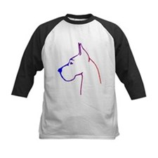 Blue to Red Great Dane Logo-Tee