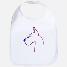 Blue to Red Great Dane Logo on Bib