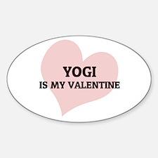 Yogi Is My Valentine Oval Decal