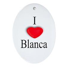 Blanca Oval Ornament