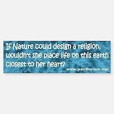 If Nature could design a religi - Sticker (Bumper)