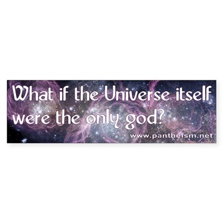 What if the Universe... - Sticker (Bumper)