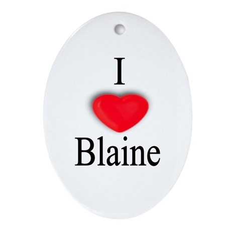 Blaine Oval Ornament