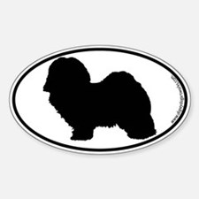 Havanese SILHOUETTE Oval Decal