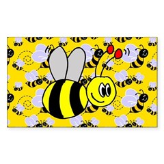 Bumble Bee Rectangle Decal