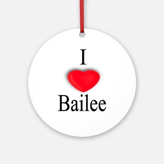 Bailee Ornament (Round)