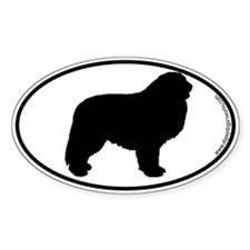 Great Pyrenees SILHOUETTE Oval Decal