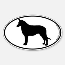 Collie (Smooth) SILHOUETTE Oval Decal