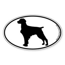 Brittany Spaniel SILHOUETTE Oval Decal