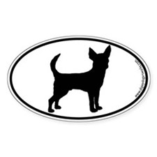 Chihuahua (Smooth) SILHOUETTE Oval Decal