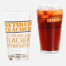 Funny Retired teacher Drinking Glass