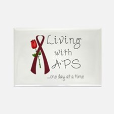 Living with APS One Day at a Time Rectangle Magnet
