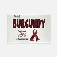 Think BURGUNDY Rectangle Magnet