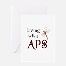 Living with APS - Dragonfly Greeting Card