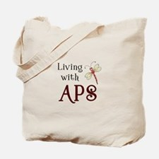 Living with APS - Dragonfly Tote Bag