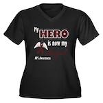 My Hero is Now My Angel - APS Women's Plus Size V-