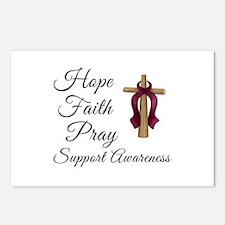 Hope Faith Pray Postcards (Package of 8)
