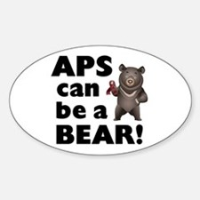APS Can Be a Bear! Sticker (Oval)