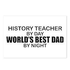 World's Best Dad - History Teacher Postcards (Pack