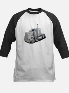 Kenworth W900 White Truck Kids Baseball Jersey