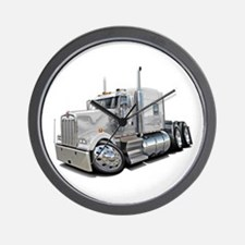 Kenworth W900 White Truck Wall Clock