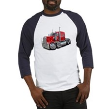 Kenworth W900 Red Truck Baseball Jersey