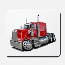 Kenworth W900 Red Truck Mousepad