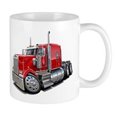 Kenworth W900 Red Truck Small Mug