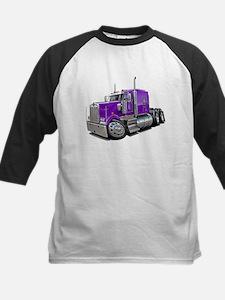 Kenworth W900 Purple Truck Kids Baseball Jersey