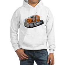 Kenworth W900 Orange Truck Hoodie