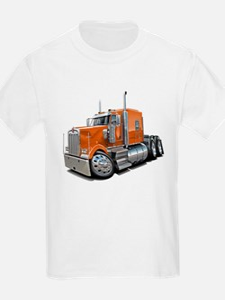 Kenworth W900 Orange Truck T-Shirt