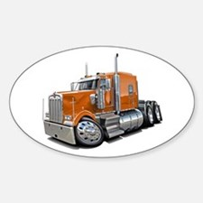 Kenworth W900 Orange Truck Decal