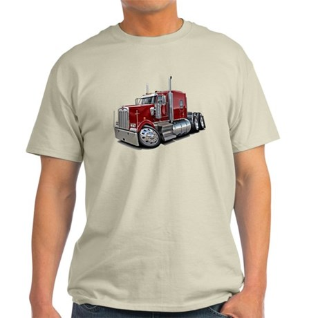 Kenworth W900 Maroon Truck Light T-Shirt