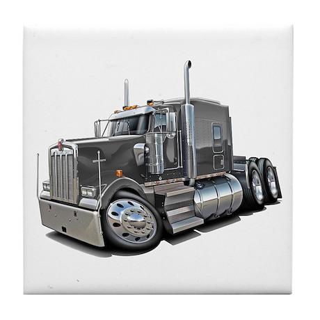 Kenworth W900 Grey Truck Tile Coaster