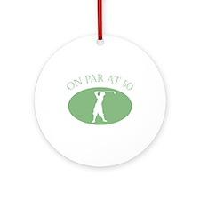 On Par At 50 Ornament (Round)