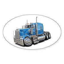 Kenworth W900 Lt Blue Truck Decal