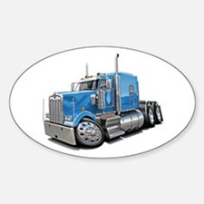 Kenworth W900 Lt Blue Truck Decal
