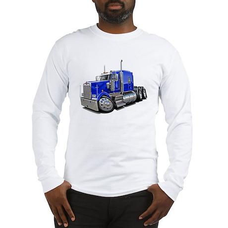 Kenworth W900 Blue Truck Long Sleeve T-Shirt