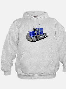 Kenworth W900 Blue Truck Hoodie
