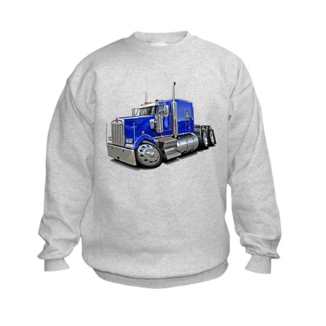 Kenworth W900 Blue Truck Kids Sweatshirt