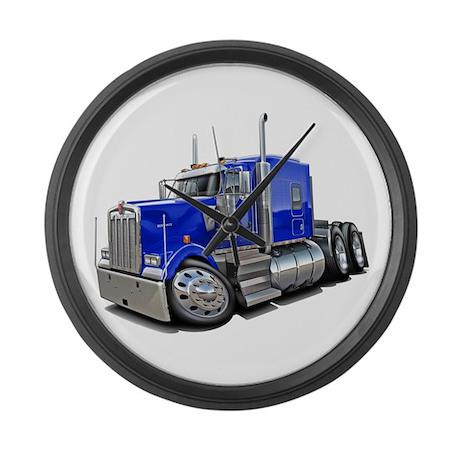 Kenworth W900 Blue Truck Large Wall Clock
