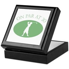 On Par At 30 Keepsake Box