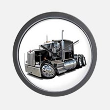 Kenworth W900 Black Truck Wall Clock
