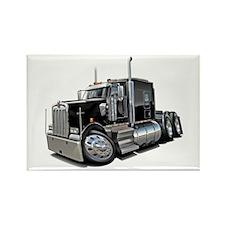 Kenworth W900 Black Truck Rectangle Magnet