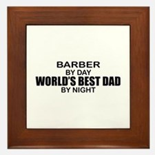 World's Best Dad - Barber Framed Tile