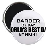 World's Best Dad - Barber Magnet