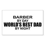 World's Best Dad - Barber Sticker (Rectangle)