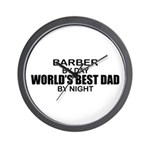 World's Best Dad - Barber Wall Clock