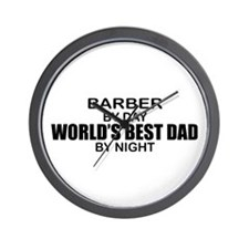 World's Best Dad - Barber Wall Clock